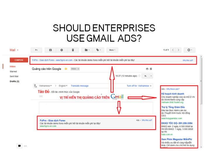 quảng cáo gmail