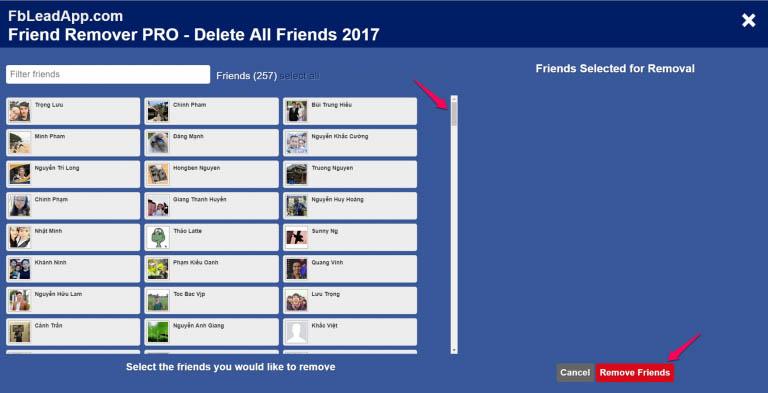 lọc bạn bè không tương tác trên facebook